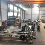 KKR Kunststoff-Ketten-Räumer - Versandbereite Bauteile